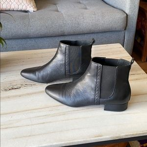 Banana Republic Black Leather Chelsea Boot